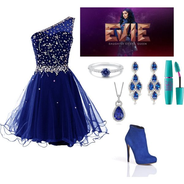 Descendants Evie by sofia-carv on Polyvore featuring Nicholas Kirkwood, CZ by Kenneth Jay Lane, BERRICLE, Blue Nile, Maybelline and Disney