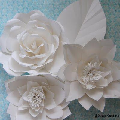 chanel fashion show inspired huge large paper flower wall | Paper Flowers Handmade Tutorials DIY #largepaperflowers