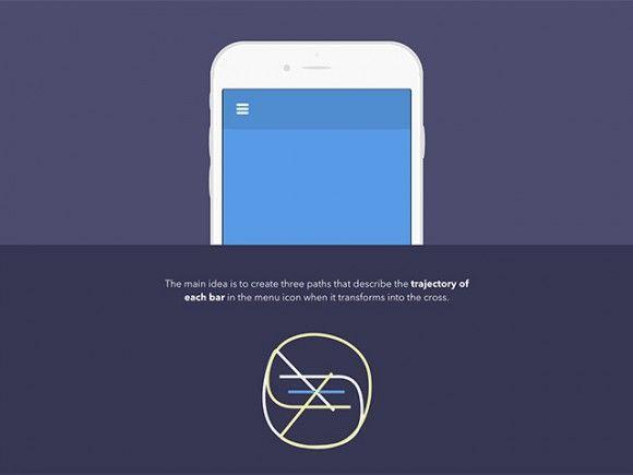 Animated SVG menu icon