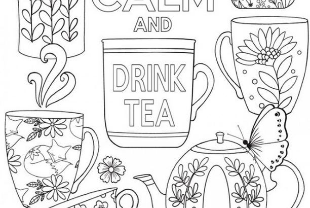 Keep Calm And Drink Tea Coloring Page Craft Gossip Coloring Pages Keep Calm And Drink Drinking Tea
