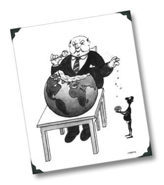 Nos dicen que quieren acabar con el hambre en el mundo, que si no ha sido posible en el 2015 lo será más adelante. Ahora cuando caducan los Objetivos de Desarrollo del Milenio (ODM), sin por cierto haber conseguido nada, se inventan nuevos conceptos como la Agenda para el Desarrollo Post-2015 y nos dicen que esperemos y confiemos, que lo dejemos en sus manos, que ésta es la definitiva. Y la historia, o la mentira, se repite de nuevo.  http://www.aplieob.org/2013/04/sin-derecho-comer.html