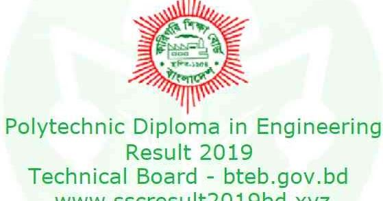 Diploma in Engineering Result 2019 The Polytechnic Diploma