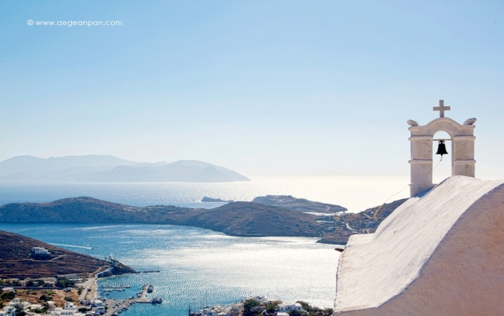 Blue and Gold Aegean  The sky, the sea, the island…    www.aegeanpan.com at Ios island | Cyclades | Greece