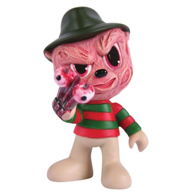 """BAD TASTE BEARS MINI MAYHEM FREDDY (NIGHTMARE ON ELM STREET) $12.95  Mini Mayhem Series 2 features four Monster BTB characters in their cutest and most collectible form yet. Standing at approx 2.5"""" tall, these adorably evil bears give an edgy and fresh look to some classic designs."""