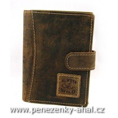 Pánská peněženka kožená s přezkou.