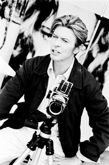 Photos of Famous Musicians with Their Cameras:  David Bowie with a Hasselblad
