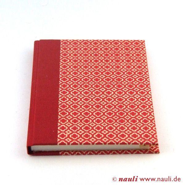 Adressbuch rot quatrefoil - Vierpass - Muster, handgemacht von Nauli