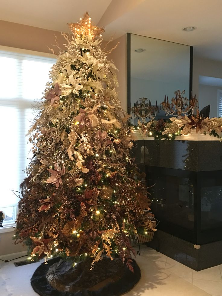 Ombré Christmas Tree! Ivory, Brushed Gold and Bronze!!