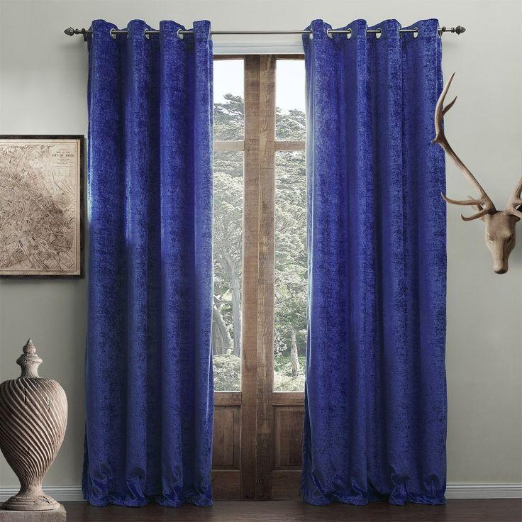 Modern Solid Bright Blue Curtain #curtains #decor #homedecor #homeinterior # Blue
