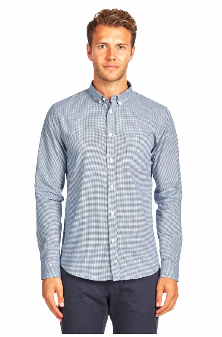 The Academy Brand - Langley L/S Shirt - Blue
