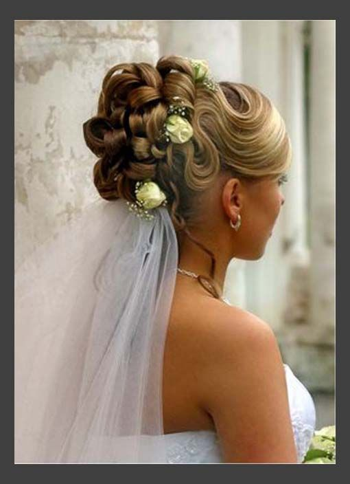 Hairstyles, Traditional Wedding Hair Updos: Simple Style of Wedding Updos For Medium Length Hair