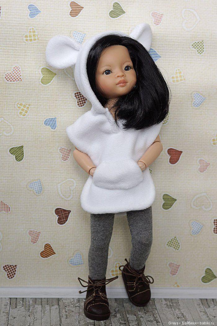 Хочу поделиться простой выкройкой тунички для кукол ростом 32-34 см (странно, что я не выложила ее раньше). Материал — флис,