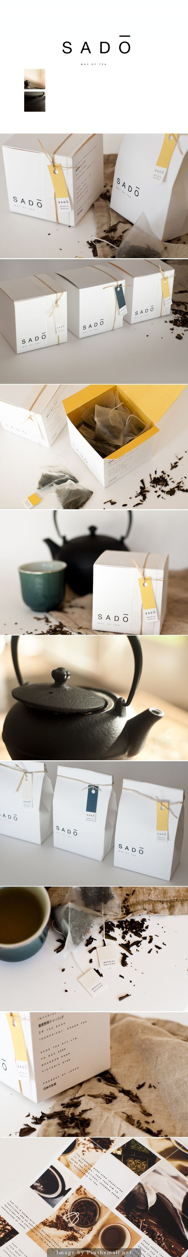 Sado Tea, Japanese words for 'way of tea'. #Packaging #Design