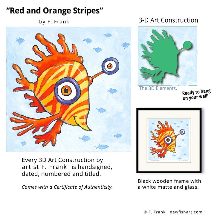 22 best Fish Art by F Frank images on Pinterest Colorful fish - new certificate of authenticity painting