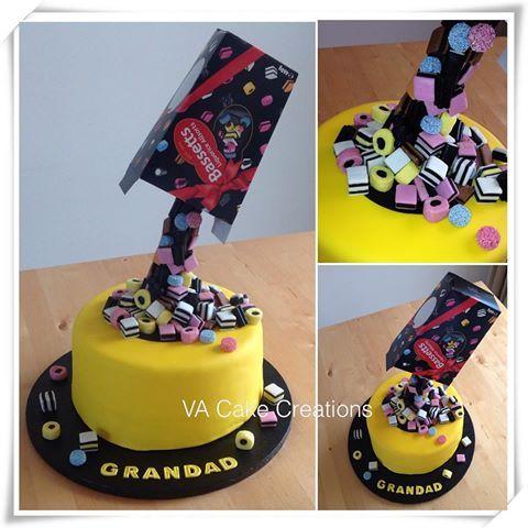 licorice allsorts gravity cake - Google Search