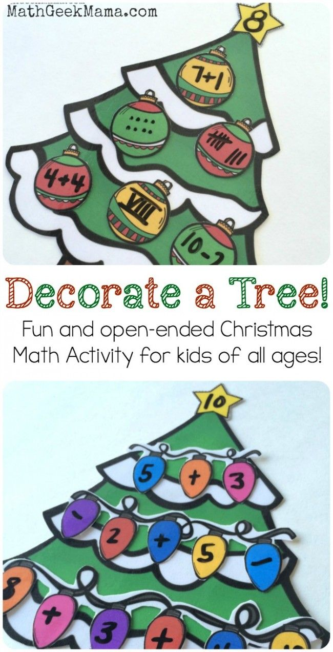 Decorate Christmas Tree Worksheet : Best number sense activities ideas on