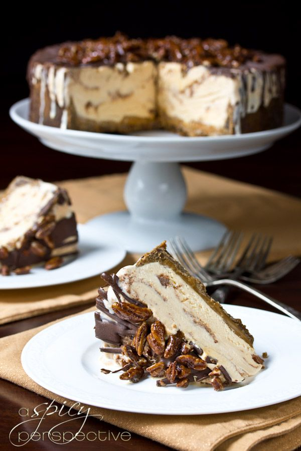 Turtle Pumpkin Ice Cream Deesert Cake: An Easy and Impressive Thanksgiving Dessert ~ A Spicy Perspective