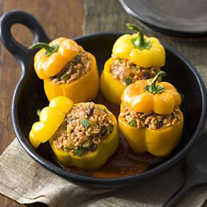 Picadillo Stuffed Peppers | Recipe | Stuffed Peppers, Slow Cooker ...