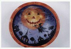 Lori did we do this one? I think it is in my to finish pile... Pumpkin Moon Over Silhouette Town
