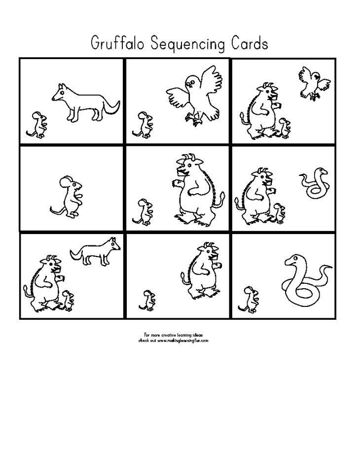 templates  The Gruffalo  Boeken Taal Kleuterschool