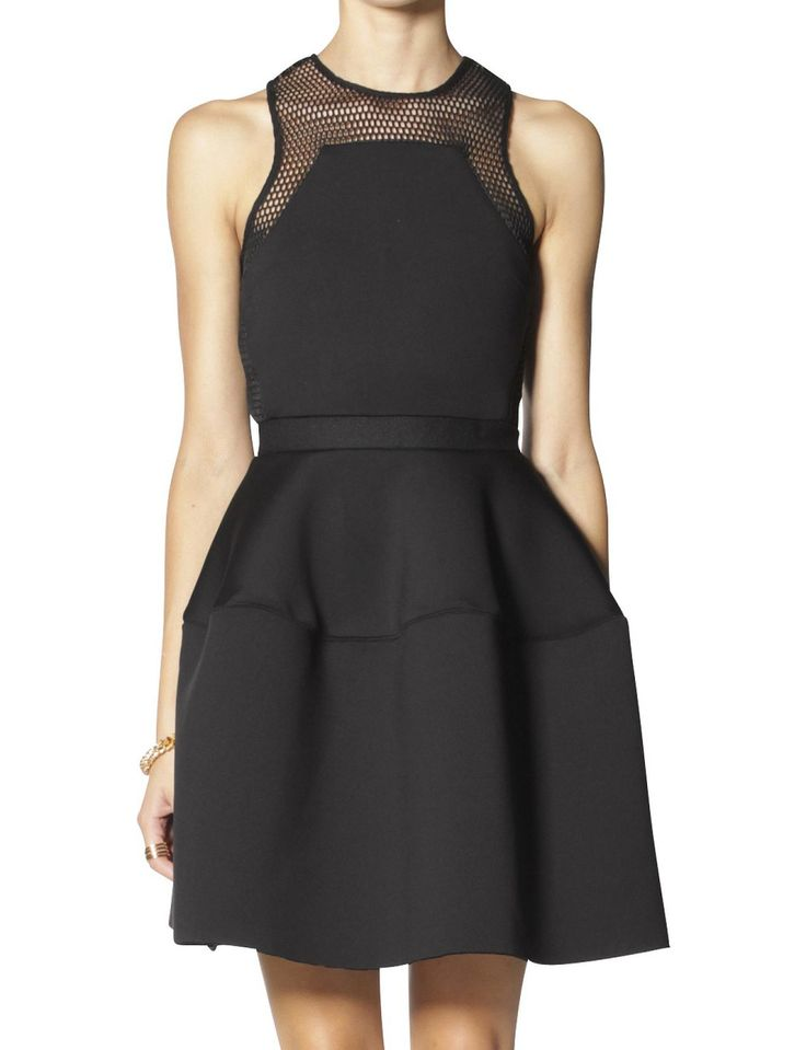 Mesh Neoprene Tulip Dress | David Jones