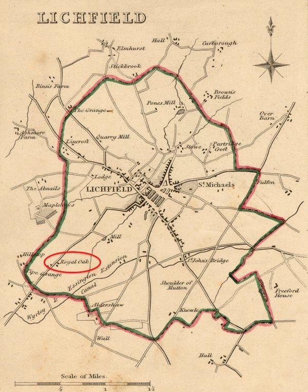 Lichfield map