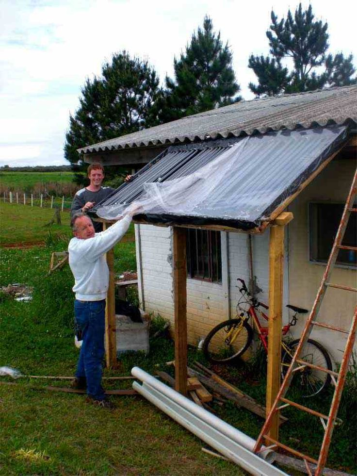 Passive solar water heater costs $300 - DIY project that could keep you entirely off-grid.
