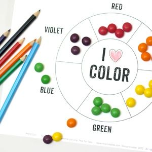 A ton of different FREE printable color wheels. Super awesome for teaching colors, mixing, and spectrum order.
