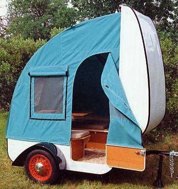 ¿Qué tenemos si unimos una caravana y una tienda de campaña? Pues esta microcaravana diseñada con gusto y totalmente funcional ||Tiny pop up camper