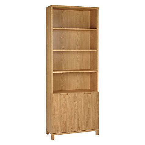 Buy John Lewis Abacus 5 Shelf Bookcase with Doors, FSC-Certified Online at johnlewis.com