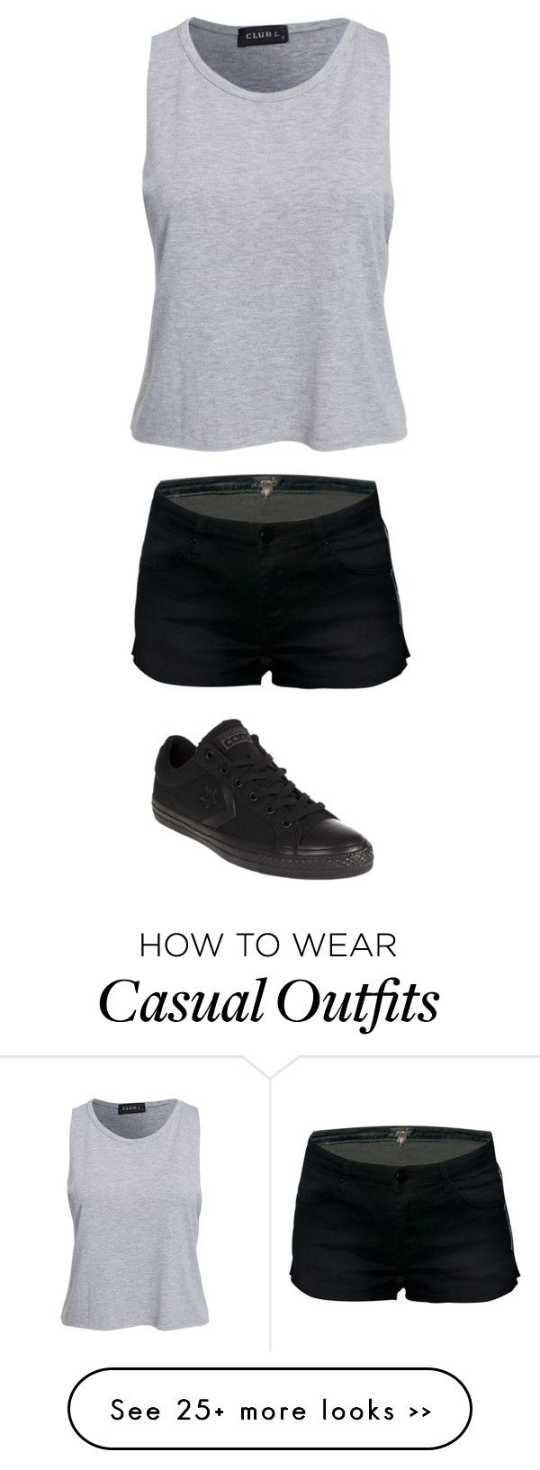 """very casual"" by twerkinonmaz on Polyvore featuring Converse"
