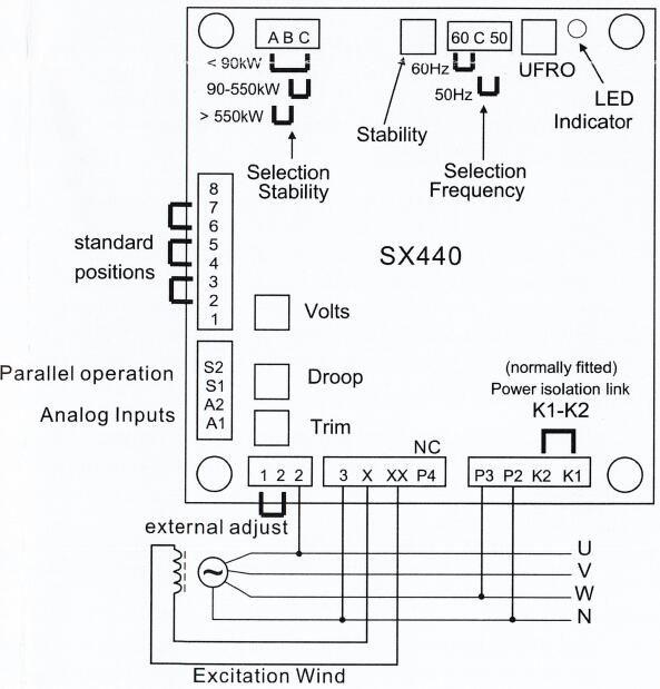 wiring diagram on generator avr