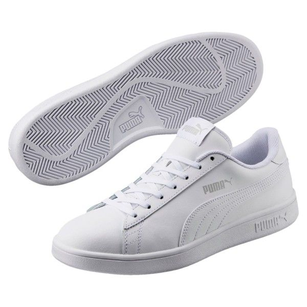 Image 1 of Smash v2 Leather Sneakers, Puma White Puma White