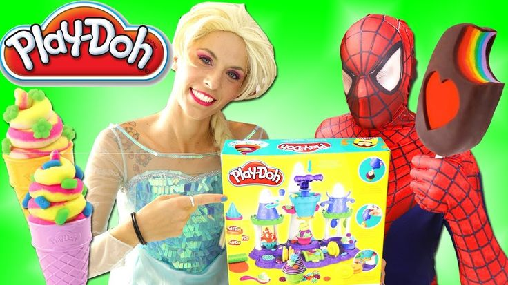 Spiderman Make Ice Cream & Elsa Ice Cream Maker Spiderman Play Doh Videos Spiderman Make Ice Cream & Elsa Ice Cream Maker Spiderman Play Doh Videos