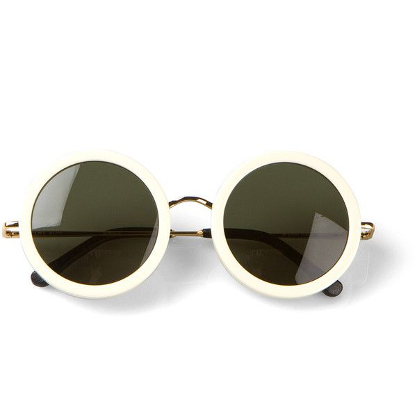 The Row white round sunglasses found on Polyvore