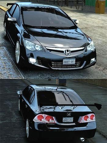 Honda Civic 2006, would look better without the wing.