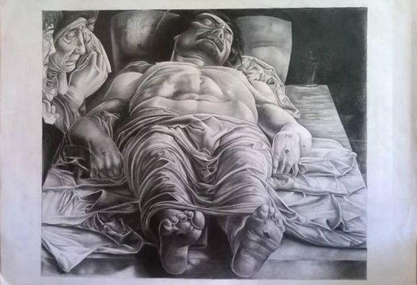 Cristo morto del Mantegna - matita 70 x 50 https://www.facebook.com/Francesca-Piva-1518741268452199/
