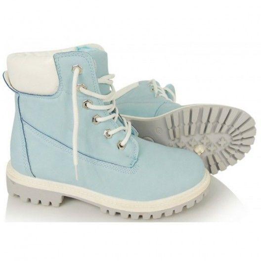 Dámska obuv worker v modrej farbe so šnúrkami - fashionday.eu