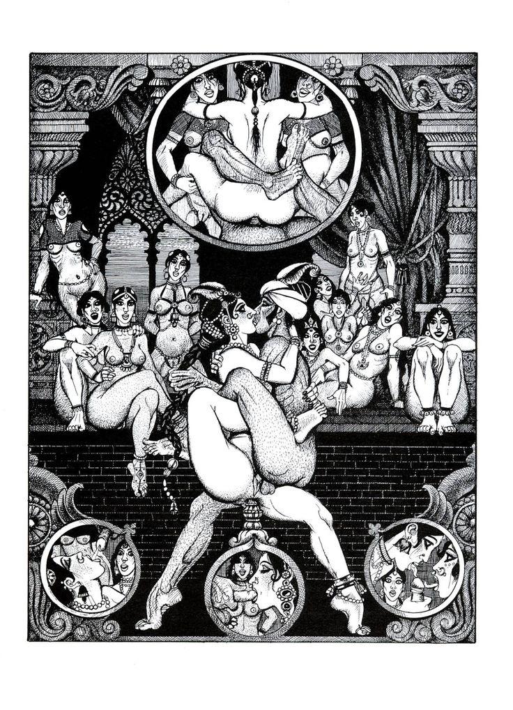 Erotic drawings group sex