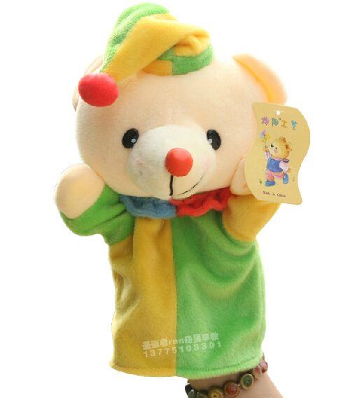 История игрушек 1 шт. 26 см мультфильм клоуны-eat-люди цирк медведь куклы-марионетки спящего успокоить образования раннее образование младенческой подарок