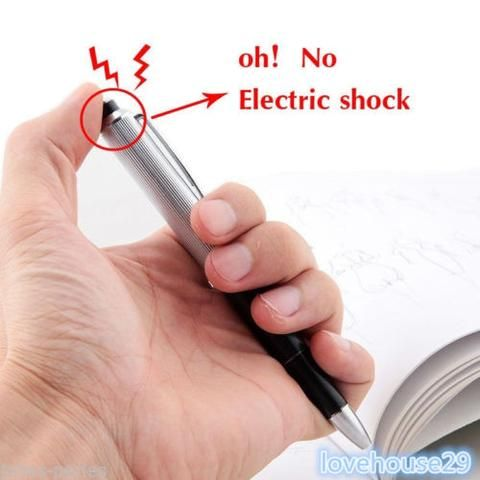 JP Electric Shock Joke Writing Pen Shocking Toy Gift Gadget Prank Trick Funny