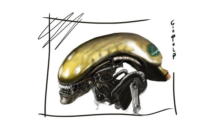 Alien isolation fan art disegnato partendo da una banana https://www.youtube.com/watch?v=FYATsE1dvo8