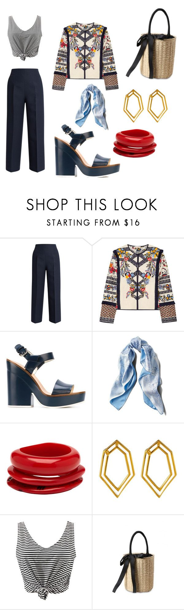"""Karou"" by evmegi ❤ liked on Polyvore featuring Fendi, Tory Burch, Jil Sander Navy, Asprey, Mimco, Botkier and WithChic"