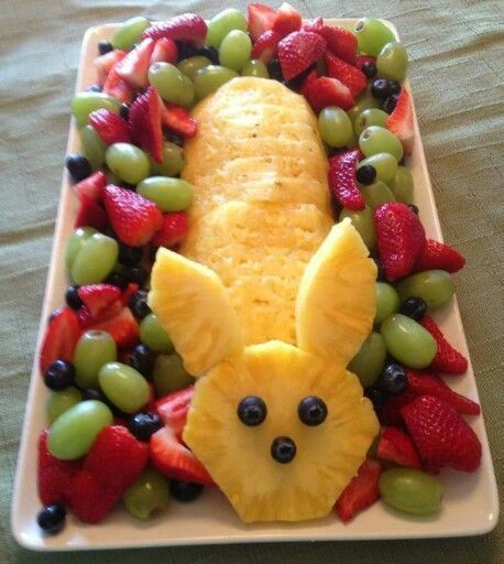 Love this easter bunny made of pineapple, fruit on the s … # easter #easter # 20 …   – Gerichte