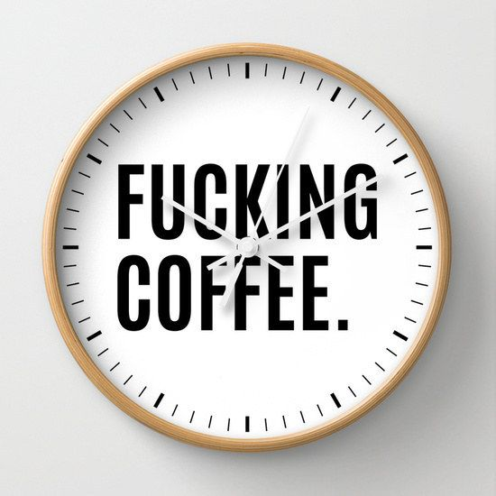 And this clock that knows it's ~always~ coffee time: | 25 Gifts For People Who Only Care About Coffee