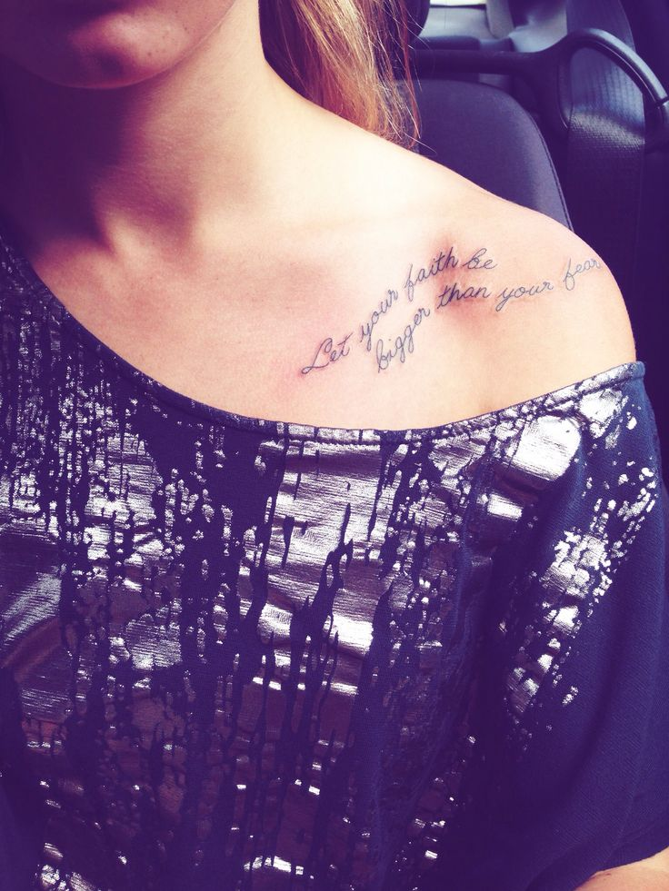 Let your faith be bigger than your fear my tattoo for Faith cancer tattoos