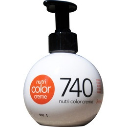 Apart from wearing color-specific conditioners, if you are blessed with natural red hair and want to make it look fiery red without having to use hair dye, try using Revlon Professional's Nutri Color Cream on shades 734 or 740.