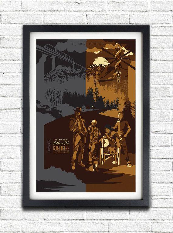 The Dark Tower  Gunslingers  19x13 Poster by bensmind on Etsy