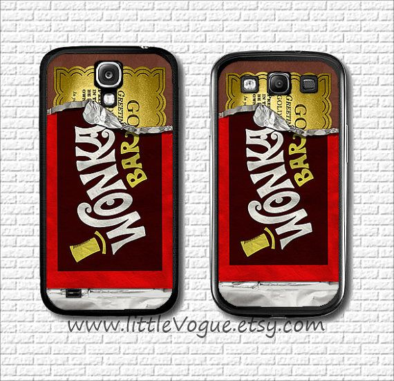 finest selection b0ad9 b1ebf Wonka Chocolate design phone case phone cover, case for galaxy s2 ...
