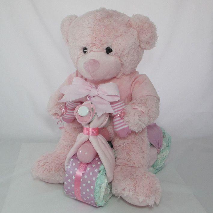 41 best baby girl gifts images on pinterest baby girl gifts nappy cake teddy trike nappy cakeshampersbaby giftsmelbournebb negle Images